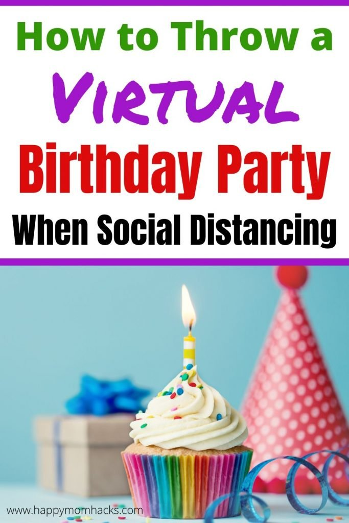 How to Throw a Virtual Birthday Party for kids. Plan your social distancing party with Zoom games, checklist, and theme ideas. Find themes like Lego Party, Dance Party, Scavenger Hunt, Fortnite, TikTok Challenge, Science and more. A party for small children to Teens.  #virtualparty #birthdayparty #zoomgames #kidsbirthdayparty