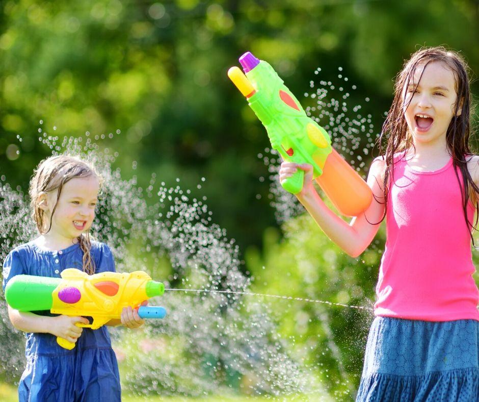 Water Guns Games for Summer Outdoor Activities kids will love.
