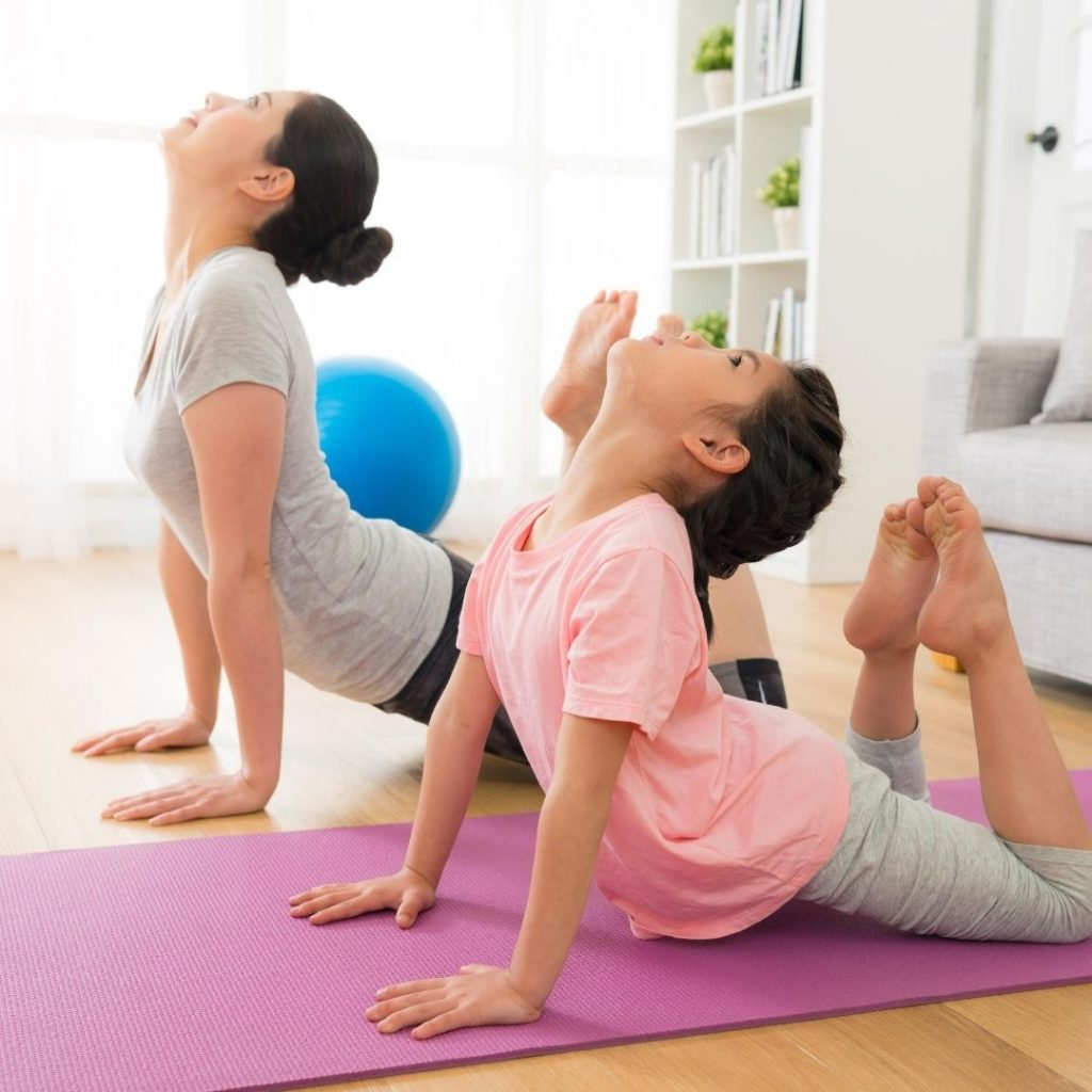 Yoga with your kids is a great way to relax your kids during distance learning.