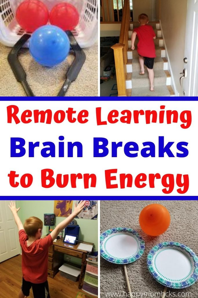 15 Fun Remote Learning Brain Breaks for Parents and Teachers. Indoor activities to do on Zoom & at home to get kids energy out at break time. You'll be amazed how much more productive the kids will be! #distancelearning #remotelearning #brainbreaks #energybusters #kids #indooractivities