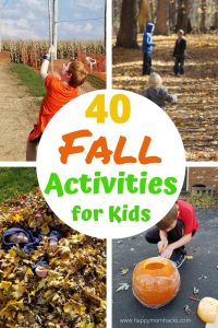 Super Fun Fall Activities for Kids. 40 family Things to Do in the fall Indoor & outdoor activities, fall crafts & weekend getaways. Free Printables too. Make it a fall to remember! #fall #autumn #kidsactivities #activitiesforkids #thingstodowithkids #indooractivities #outdooractivities #halloween #fallgetaways