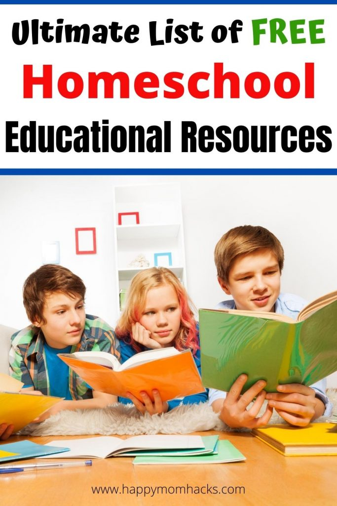 Top Free Homeschool Resources Parents Need to Homeschool their kids. Make Homeschooling your children easier with free curriculum, websites and printables for all your educational needs. Invaluable resources for Elementary and middle school kids. Be ready for a great year of homeschooling. #homeschooling #homeschool #eductionalresources #free #freeprintables #homeschoolcurriculum