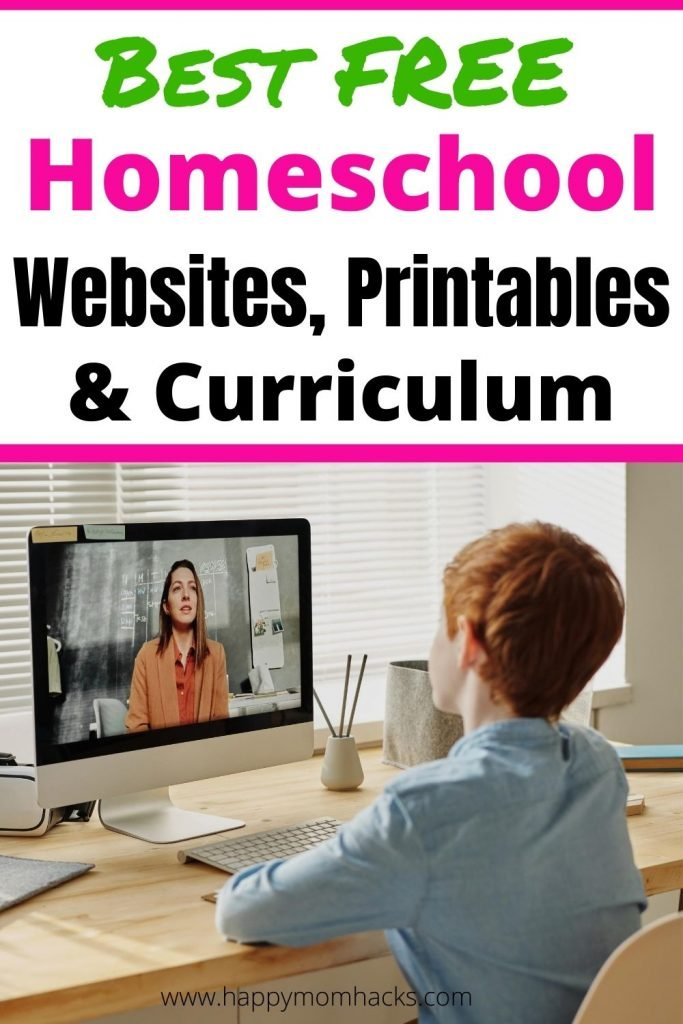 Best Free Homeschool Websites, Curriculum & printables. Use these homeschooling resources to get started homeschooling your kindergartner, elementary and middle school children. This list will be a great start on your homeschooling journey. #homeschool #homeschoolresource #homeschoolcurriculum #homeschoolwebsites #homeschoolprintables