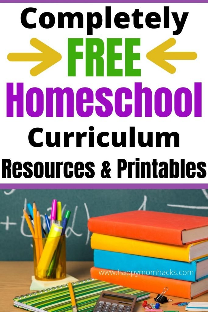 Free Homeschool Curriculum, Resources & Printables to make homeschooling easier for parents. Everything you need to get started homeschooling for Kindergartners, Elementary and Middle school age kids. Great resources for remote learning too. #homeschooling #homeschoolresources #homeschoolcurriculum #homeschoolpintables #freeprintables #free