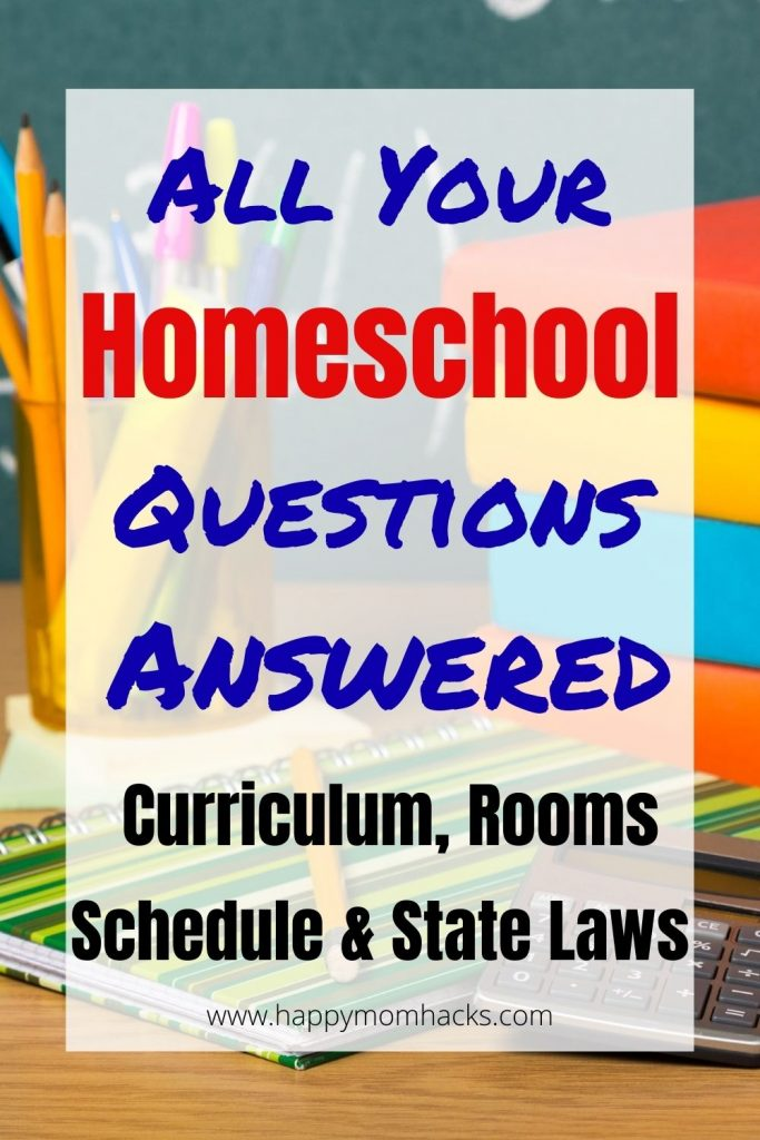 Want to know how to start homeschooling your kids? Use this complete beginners guide to curriculum, schedule, state laws, homeschool rooms and more. Best tips for a great year of homeschooling. #homeschool #homeschooling #curriculum #schoolathome