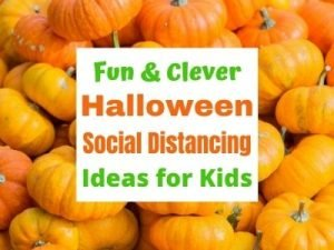 How to celebrate Halloween which social distancing for kids.