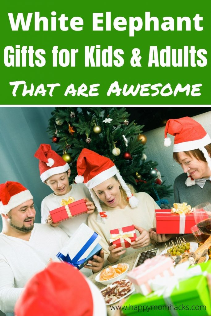 22 Unique White Elephant Gift Ideas for Kids & Adults. The best gifts for under $20 & easily bought on Amazon. No Shopping needed. Be ready for your holiday party, office Party or family event with these fun holiday gifts the whole family will love. #holidaygifts #giftideas #whiteelephant #holidayparty #partygames #Giftsforkids #giftsforadults