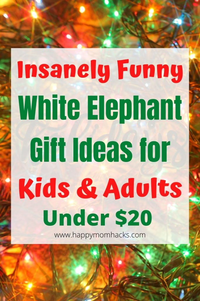 Super Funny White Elephant Gift Ideas for Kids & Adults. All the Christmas gifts are under $20 and people will really want them! Be ready for your upcoming Holiday party with these fun gift exchange ideas everyone will love. #holidaygifts #funnygifts #whiteelephant #giftexchange #kidsgifts #adultgifts #holidayparties