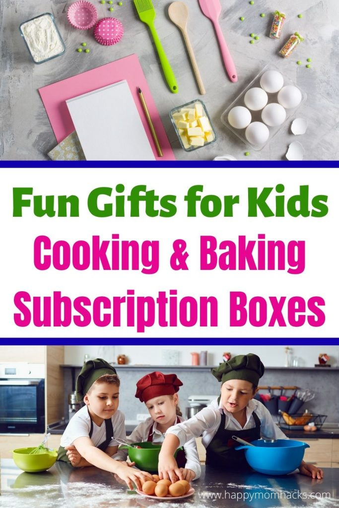 Subscription Boxes are Fun Gift Ideas for Kids on Birthdays and Holidays. Monthly subscription boxes are kits filled with art, science, books, baking, cooking recipes and kids activities. Look through and find a box that fits your child's personality. They'll be so excited to open the box and get started playing. Give a gift that keeps giving this year! #subscriptionboxes #giftideas #giftsforkids #kidsgifts #Art #science #baking #books #cooking #subscriptionkits