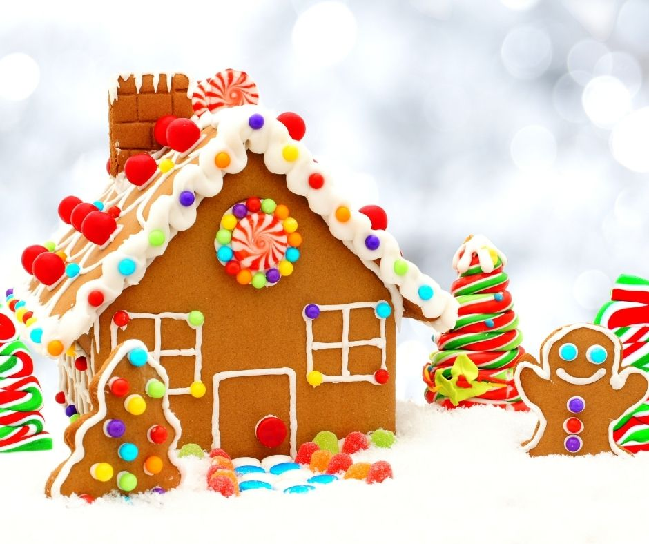 Building a Gingerbread house with your kids. Fun gingerbread kits for a an entertaining family activity.