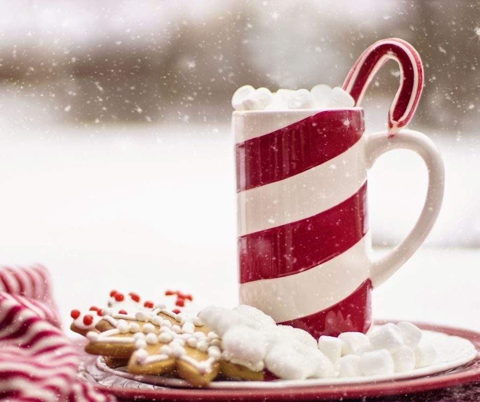 Hot Chocolate Bar at Christmas Time.