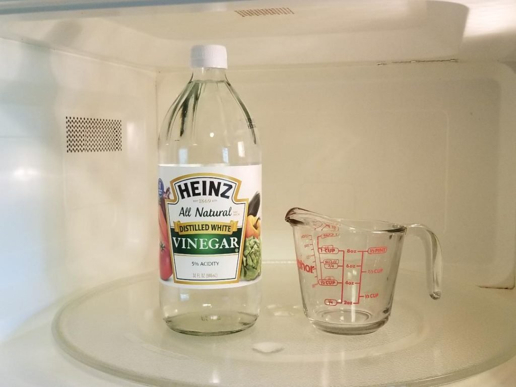 Use Vinegar to Steam clean your Microwave.
