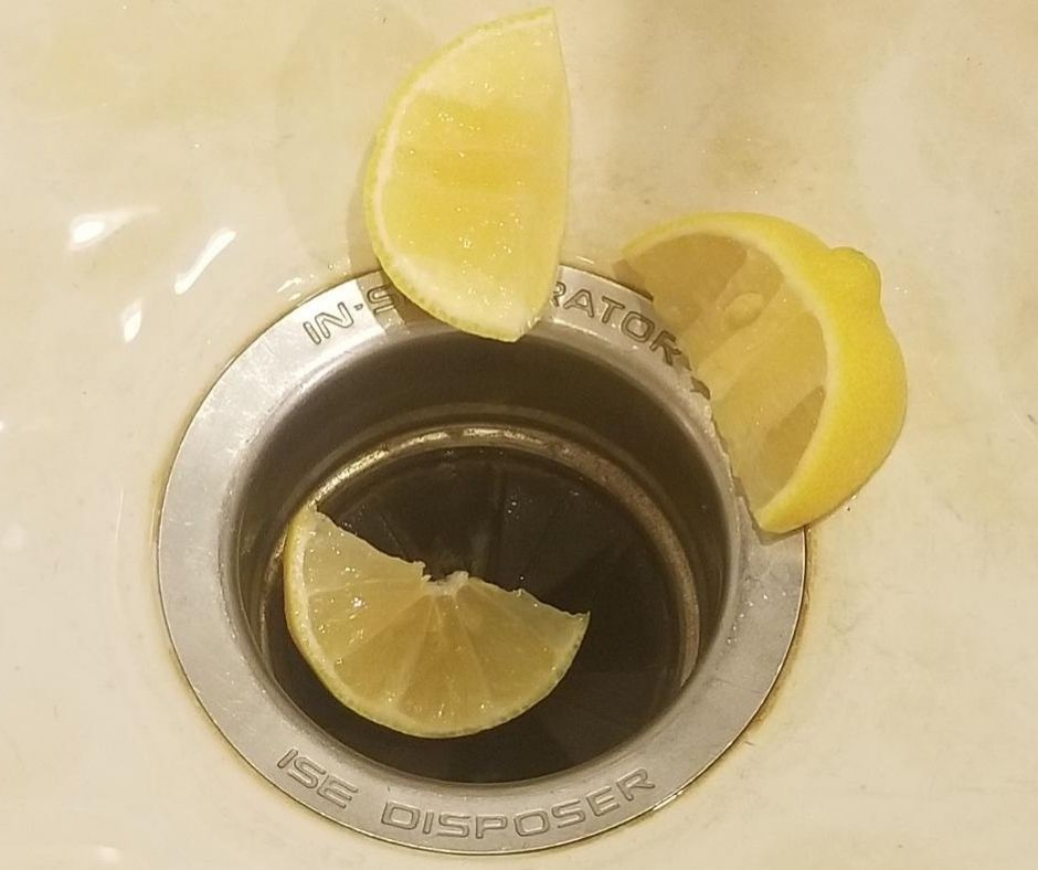 Lemons are a great cleaning hack for your garbage disposal.