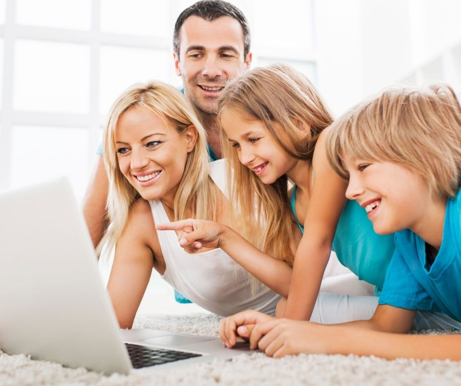 Family Zoom Games for Kids with virtual Scavenger Hunts, charades, Pictionary and more family game night ideas families will Love.