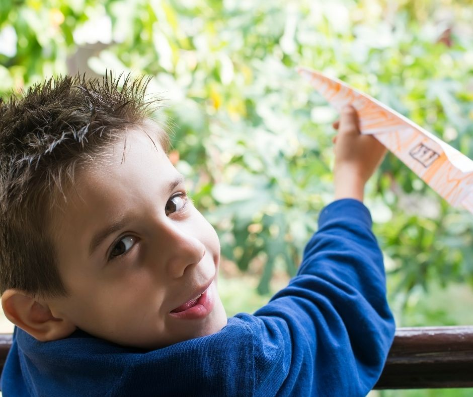Fun birthday party game - Paper Airplane Races. Kids will love designing and racing their paper airplanes.