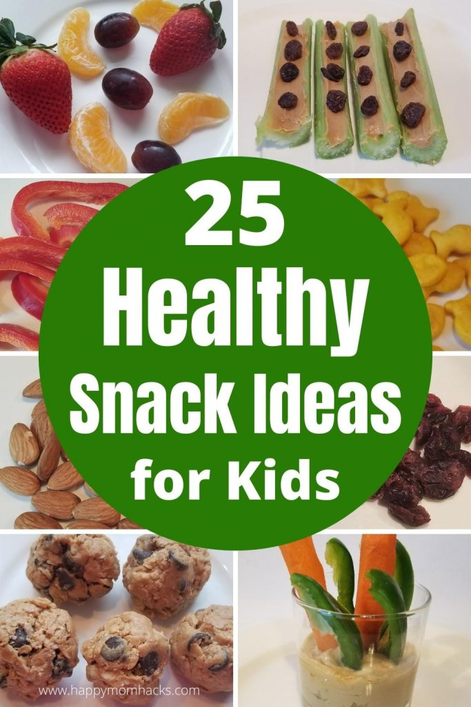 25 Easy & Healthy After School Snacks for Kids. Quick snack ideas that can be set up once a week in your fridge or panty. Plus on the go-snack ideas too! Make sure wherever you go your kids have a healthy snack option. #healthysnacks #kidssnacks #easysnackideas #kidssnackideas #afterschool