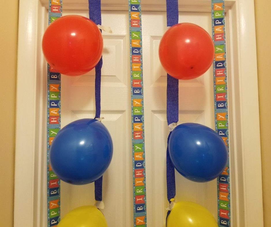 Balloon Door Decorations are a Meaningful birthday traditions kids love. They'll be so excited to open the door on their birthday morning and see the balloons and streamers.