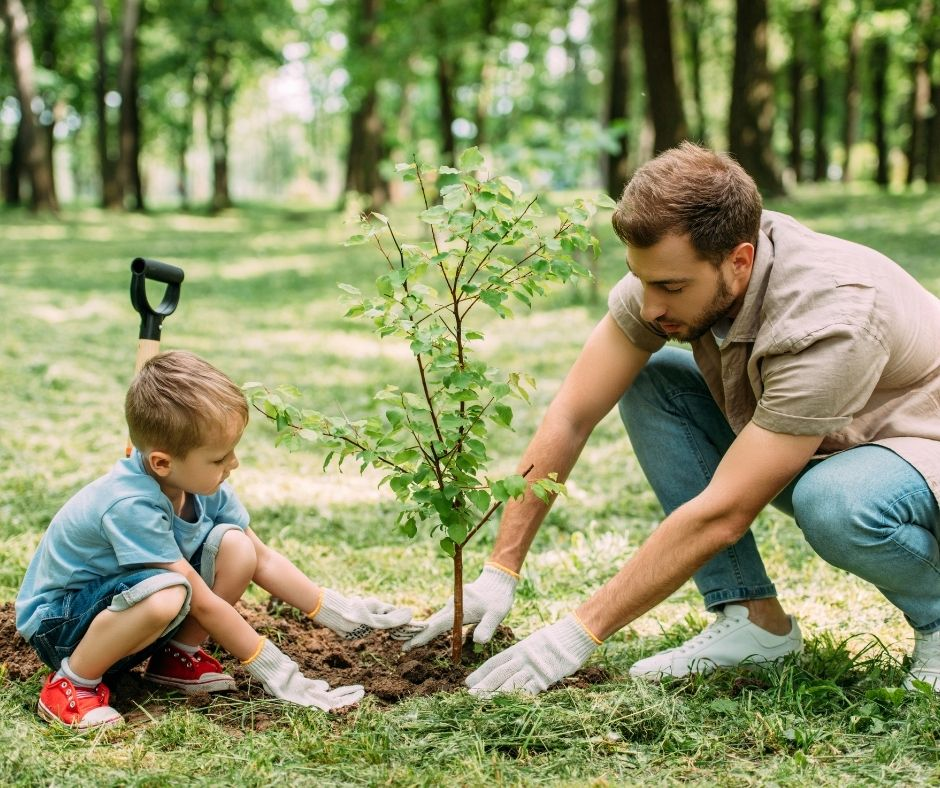Planting a Tree on your child's birthday is a Meaningful Tradition kids will love. Plant a tree on their birthday and take pictures with the tree as your child and the tree grow.