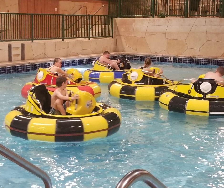 Fun Things to Do at Wilderness Resort in Wisconsin Dells. Bumper Boats are a fun indoor activity for families.