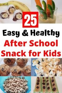 Easy & Healthy Snacks Ideas for kids. 25 snack ideas you can set up in your pantry or fridge for kids to grab on their own. An easy snack system to set up after school snacks once a week. Make it easier for your kids to grab a healthy snack after school.