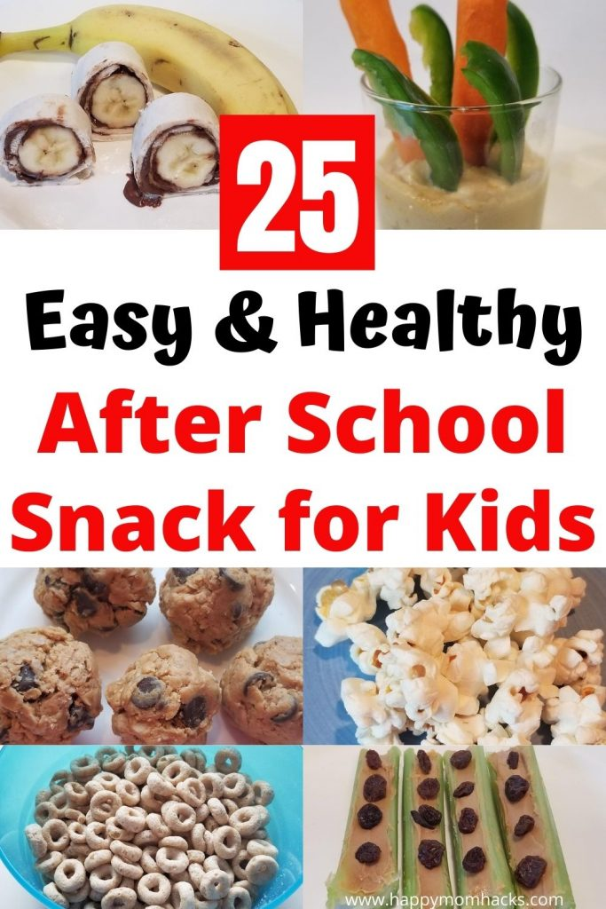 25 Easy & Healthy Snacks Ideas for kids. After school snacks kids love and you can feel good about serving. Set up an easy snack system in your fridge or pantry for make-ahead snacks. It only takes 20 minutes once a week. Make it easier for your kids to grab a healthy snack after school. #healthysnacks #kidsnacks #easysnacksforkids #snacks #makeaheadsnacks #afterschoolsnacks #pantrysnacks #fridgesnacks