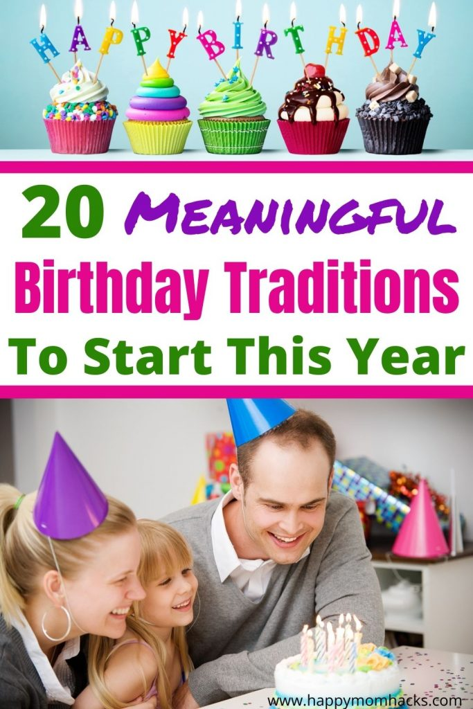 Unforgettable Birthday Traditions to Make Kids Feel Special at Home. Fun & meaningful ways to celebrate with the family your kids will remember forever. Birthday Parties are fun but family time is what they'll really remember. Plus these birthday ideas are a lot cheaper. Check it out and find the perfect new birthday traditions for your family. #birthdayparty #birthdaytraditions #meaningfulbirthday #kidsbirthday