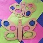 Cardboard Butterfly Craft Ideas for Kids. A recycled Art project for home or school. A great way to use up all your Amazon Boxes.