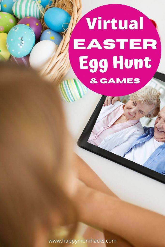 How To Do a Virtual Easter Party and Easter Egg Hunts. Plus fun Virtual Easter Games & Activities for Kids. Free Printable Easter Egg Hunt clues to get started on Your Zoom Easter Party. A fun way to celebrate when you can't be in person with your family & friends this Easter.