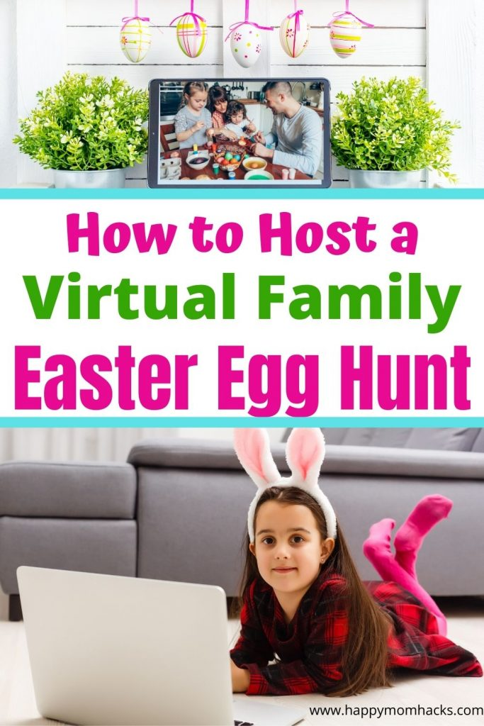 Fun Virtual Easter Egg Hunt & Party For Kids. How to celebrate Easter when you can't be together. Easy steps to host a virtual Egg hunt with free printable clues. Plus fun Easter games and activities to play virtually for an unforgettable Easter Party.