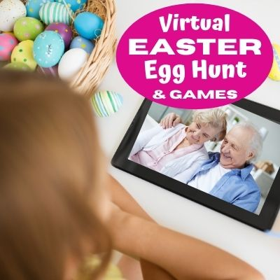 How to Make a Virtual Easter Party and Easter Egg Hunts. Plus fun Virtual Easter Games & Activities for Kids. Free Printable Easter Egg Hunt clues to get started on Your Zoom Easter Party.