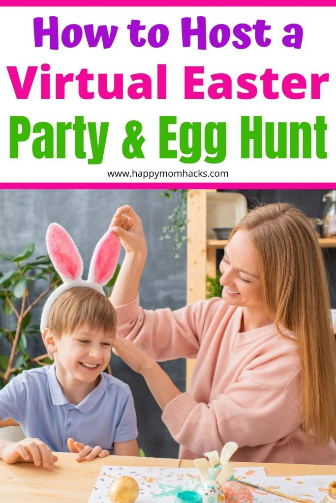 Fun Virtual Easter Party Ideas & Easter Egg Hunts for Kids. Easy Easter Games & Activities you can do with family virtually on Zoom when you can't be together in person. Don't miss out on spending the holiday with your family just be creative. Find out how easy it is to celebrate Easter Virtually.