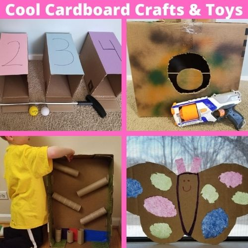 10 Things to Make out of Cardboard Boxes. A fun thing to do on rainy days with kids indoors.