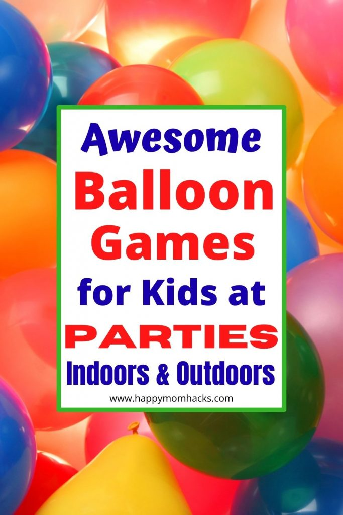 15 Best Balloon Party Games for Kids. Fun games to play indoors or outdoors the kids will love. Find Easy & cheap balloon games like Keep It UP, Balloon Tennis, Balloon Pop, Balloon Races and More. Perfect for Kids Birthday Parties or Backyard BBQ's entertainment.