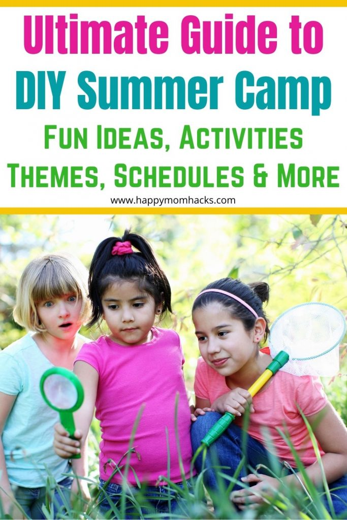 Easily Plan a DIY Summer Camp at Home for kids with fun ideas, weekly themes & schedules. Everything you need to plan a stress-free summer with your kids. Check it out and get planning today!