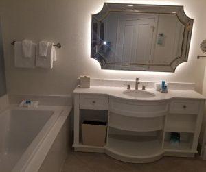 Disney Saratoga Spring Resort bathroom in 1 Bedroom Villa.