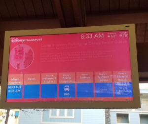 Saratoga Springs Bus Stop Signs with Times Listed