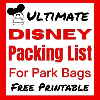 Free Printable Disney Packing Checklist for your park bag. All the Disney essentials you will need in your backpack for visiting the Disney Parks with kids.