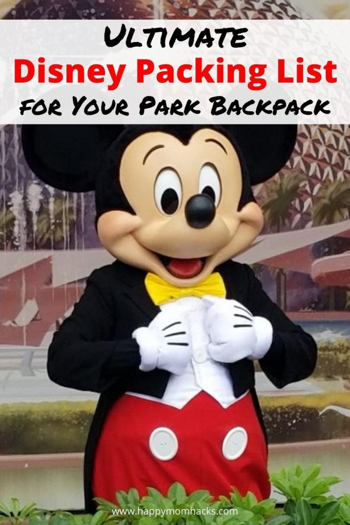 Free Printable Disney Packing List for your Park Bag. All the Disney Essentials you'll need visiting the park with your kids. Don't' stress about packing for Disney use this checklist to make it easy. Plus some great Disney Tips for your Visit.