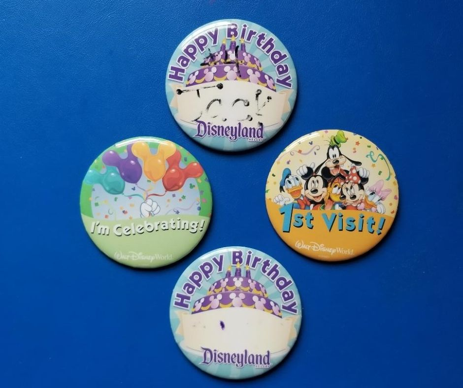 Grab a Free First Time to Disney Button and Birthday celebrations at the park. Pick up these pin from a Disney Cast member. Kids will love all the birthday wishes they will get and welcome to the park.