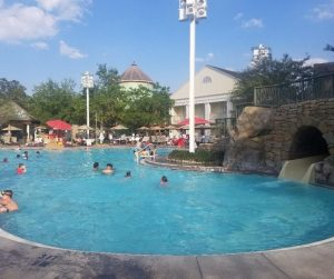 Disney Tip- Take a break in your day at the Disney Resort pool. Give yourself a chance to rest up before going back to the Parks.