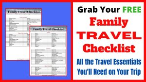 Free Printable Family Travel Checklist with everything you need to pack for family vacation. Be prepared to travel with kids with this handy printable checklist.