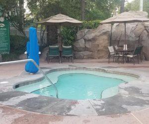 Spa Area at Disney Saratoga Springs High Rock Pool Area.