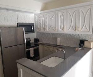 Full Kitchen in the 1 Bedroom Villa at Disney Saratoga Springs Resort.