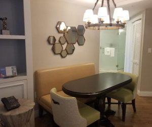 Saratoga Springs Resort 1 Bedroom Villa kitchen table area.