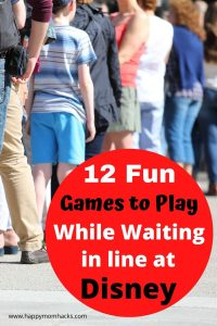 Easy Games to play while waiting in line at Disney Parks or Amusement parks. A fun way to stay entertained in long ride lines when your kids are bored. Use these cool Disney Tips & tricks for a stress-free family day out with no whining.