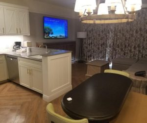 Living Room in Disney Saratoga Springs Resort 1 Bedroom Villa.