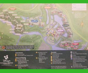 Map of Disney Saratoga Springs Resort