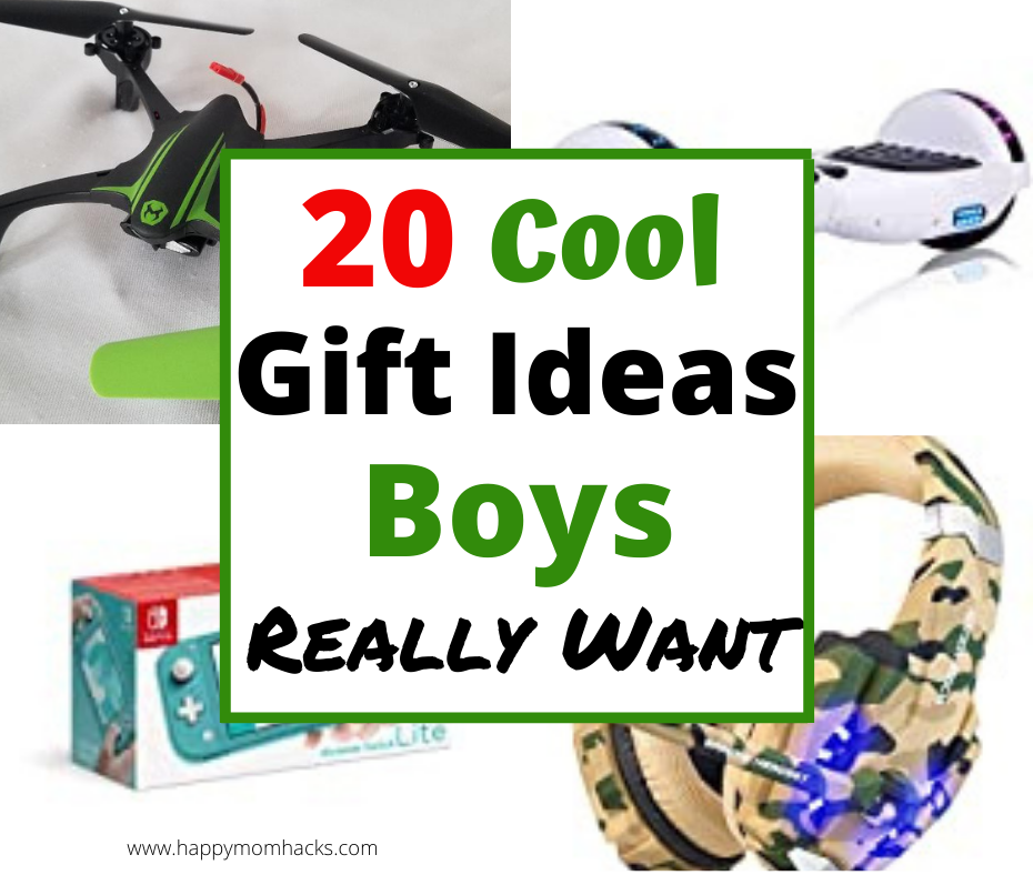 20 Cool Birthday Gift Ideas for Boys age 10-12 years old. Filled with unique games, STEM activities, newest electronics and more. Check it out and find the perfect gift for this hard to shop for age.