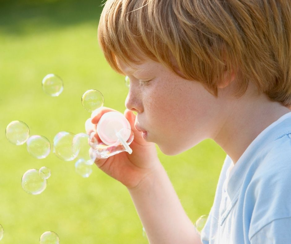 Bring Bubbles to entertain kids while waiting in line at Disney World or Amusement parks.