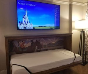 Murphy Bed for kids at Disney Saratoga Springs Resort.